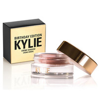 Wholesale New Arrival Kylie Jenner makeup birthday eyeshadow eyebrow colors copper rose gold DHL free shiping