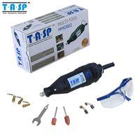 al por mayor velocidad variable-220V 130W eléctrico de velocidad variable Dremel Rotary Tool Mini Taladro con gafas de seguridad y accesorios