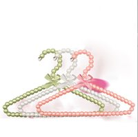 baby cloth hanger - Sainwin cm Baby Plastic Pearl Hanger Kids Plastic Cloth Hangers For Clothes