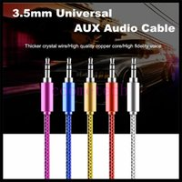 Wholesale cheap AUX mm Stereo Auxiliary Car Audio Cable Male to Male for iPhone Samsung Galaxy S5 PDA ipad MP3