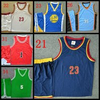 baby sports jerseys - 2016 hot retail style children sports kits Vest shorts set baby boys clothing set kids Boys outfits basketball jerseys