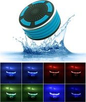 Cheap 2016 New Portable LED Wireless Bluetooth4.0 Speaker for i6s IPX7 Warterproof Outdoor Speaker With Suction Cup for Huawei Samsung Iphone PC