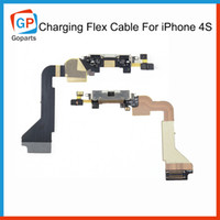 Wholesale Headphone Charging Port Black White USB Dock Connector Ribbon Flex Cable For iPhone s