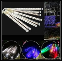 Wholesale 10Sets Meteor Shower Rain LED Light Tubes Christmas Outdoor Lights Lighting CM CM Tube Waterproof Party Xmas Fairy Led Light
