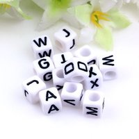 Wholesale 2016 high quality letter beads single letter optional acrylic MM letter beads diy jewelry accessories