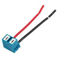 Wholesale x H7 Ceramic Headlight Light Bulb Wire Plug Socket for Car