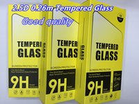 Wholesale 2 D m Tempered Glass For iphone Plus Galaxy Note Screen Protector mm Explosion Proof Film For iphone S Galaxy S6 S5 Note