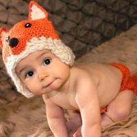 al por mayor trajes infantiles de punto-Set Los accesorios animales hechos a mano de la fotografía del traje de la gorrita tejida de la muchacha del bebé recién nacido hecho a mano del bebé cupieron los casquillos 0-6Month de los sombreros