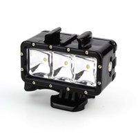 Wholesale Go Pro Accessories Underwater Waterproof Diving LED Light Spot Lamp for GoPro Hero plus Camera SJ4000 SJCAM