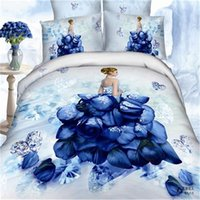 Wholesale 3D oil painting bedding set red flower cotton reactive printing queen king size duvet cover bedsheet pillowcase hoem textiles hot