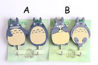 Wholesale Cute Cartoon Totoro pothook Hayao miyazaki Totoro woodiness mighty bond Adhesive hook Japanese anime style hook Z009