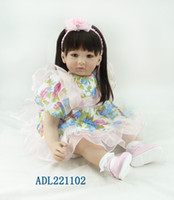 "Cheap 22"" Adora Toddler Baby Dolls Girls Gifts Toy Dolls Reborn Toddler Dolls in Princess Dress and Brown Hair"