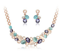 best bib necklace - Newest Fashion Jelly Color Statement Earrings Necklace Bib Choker Necklaces Fashion Women Jewelry Set Best Gift