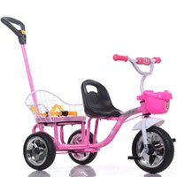 Wholesale Wholesales Large Wheels Child Tricycle Double Seats Summer Kid Outdoor Activity Toys Portable Baby Bike Strollers JN0040 salebags