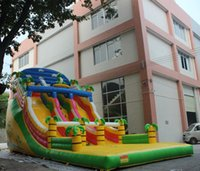 Wholesale Commercial Magic Inflatable Jungle Slide Bouncer for Sale