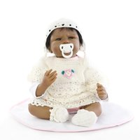 american educational - Native American Black Skin Color Ethnic Baby Dolls inch Soft Silicone Vinyl Reborn Baby Dolls in Woven Clothes