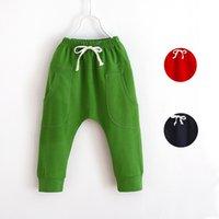 Wholesale Fashion spring autumn harem pants for boys girls children leisure pants kids cotton trousers children jogging pants baby clothes