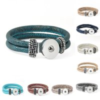 asian style decor - 9 Styles Noosa Bracelets Removable Braid Real Leather Fit mm Snaps Chunk Charms Interchangeable Jewelry Decor Gift Pack Of E732E