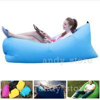 beach chair pads - Fast Inflatable laybag Sleeping Bags Lamzac Beanbag Sofa Chair Hangout Camping Outdoor Bed Beach Sofa Lounge Sleep bag Lazy