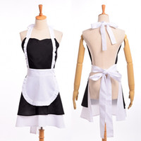 Wholesale Woman Maid Apron Vintage Ruffle Cotton Pinafore Coffee Shop Homewear Cosplay Costumes Hight Quality Fast Shipment