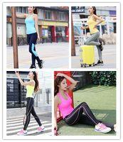 badminton volleyball set - Korea Piece Fitness Set Running Gym Volleyball Badminton Exercise Clothes Blue Pink Yellow Fluorescein XL