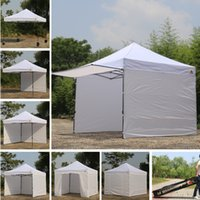 Wholesale 10x10 AbcCanopy Easy Pop up Canopy Tent Instant Shelter Deluxe Portable Market Canopy awning White