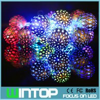 big light balls - High Quality M LED cm Big Metal Ball LED String Light with Battery Box Christmas Lights for Holiday Wedding Party Decoration