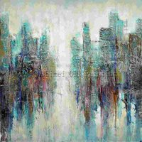 One Panel Oil Painting Abstract Master Artist Handmade High Quality Modern Abstract Oil Painting On Canvas Green Canvas Painting For Living Room Decoration