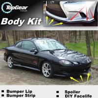 Wholesale Bumper Lip Lips For Ford ZX2 Front Skirt Deflector Spoiler For Car Tuning The Stig Recommend Body Kit Strip