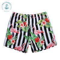 Wholesale Holishort Summer Men Swimwear Shorts Beach Surf Shorts Men Loose Plus Size Stripe Swimming shorts HSMB16006