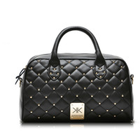 Wholesale Fashion high quality leather handbags kim Kardashian plaid rivet shoulder bag famous brand handbag women messenger bags work bag