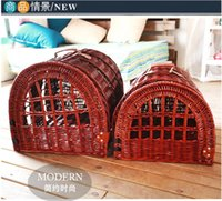 bicycle wicker baskets - Wicker Pet Baskets Willow Dog baskets Handmade With Handle For Birds Cat Pets Dog House easy cleaning Eco Friendly
