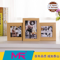 aperture photo frame - 6 and inch photo frame EU simple style design wooden picture frame or aperture rotatable stand picture frame