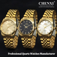 Wholesale 2016 New Luxury Men s K Gold Plated Stainless Steel Band Crystal Analog Movement Water Resistant Round Folding Buckle Quartz Wrist Watches