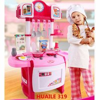Wholesale New Arrival Super Quality Children s play kitchen toys Simulation kitchen cooking kitchen utensils cook baby Huaile Brand