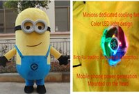 Mascot Costumes angels gold - 2016 Despicable Me Mascot Costume installation LED fan Despicable me minion Costume mascot fancy