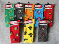 Wholesale Marvel comics avenger captain america cartoon socks batman superman ironman hulk dot socks men funny cotton socks