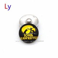 alloy sports bars - Noosa chunks Pendant Bracelet mm Snap button iowa hawkeye NACC University sports interchangeable jewelry for Sports fans NE0033