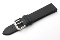Wholesale Hot sales Brand Durable Genuine Leather Ultra thin waterproof Genuine Leather Watch Band Men Women Black Strap mm mm mm mm mm Free