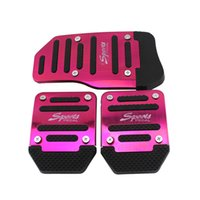 auto pedal pads - AUTO Car Accessory Nonslip Aluminum Footrest M Pedal Pad Set Brake Foot Pedal Cover Set Manual Treadle car styling Au