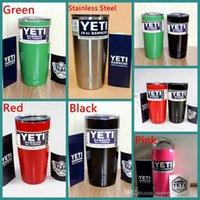 Wholesale 20 oz Yeti Cups Cooler YETI Rambler Tumbler Travel Vehicle Beer Mug Double Wall Bilayer Vacuum Insulated Stainless Steel