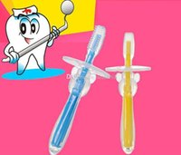 Wholesale Free DHL Fashion Safe Soft Bristle Kids Baby Teether Toothbrush Teeth Oral Care Of Babies Teething Silicone Toothbrush Kid Soothers ZJ16 T03