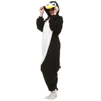 animal onesies cheap - AC044 In Stock Penguin Cartoon Cosplay Party Costumes Comfy Leisure Animal Onesies Pajamas Jumpsuit Teens Adults Homewear Cheap Sale