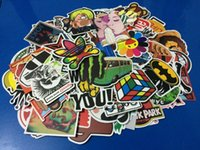 Wholesale 100 Mixed stickers car styling funny car sticker Motorcycle Bike Travel accessory car covers detector decals