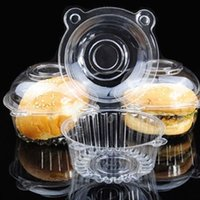 cupcakes cases - 100pcs Clear Plastic Single Cupcake Cake Case Muffin Dome Holder Box Container Y102