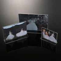 Wholesale Clear Acrylic Lucite Photo Frames Plexiglass Frame For Photo Display New Make Up Organizer