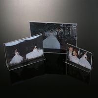 acrylic paint organizer - Clear Acrylic Lucite Photo Frames Plexiglass Frame For Photo Display New Make Up Organizer