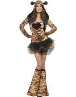 adult tiger costume - 2016 New Arrival Hot Sexy Uniform Woman Long Sleeve Adult Lace up Leopard Cosplay Tiger Costume W849099