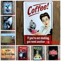 Wholesale Ice Beer Wine CAFE MENU KNOW YOUR COFFEE TIN SIGN Old Wall Metal Painting ART Decor Mix order CM