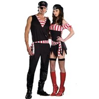 adult pirates costume - New Hot Sale Sexy Lovers Pirate Costume Sexy Adult Costumes Sexy Tempatation Cosplay Uniform CE260